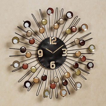 Cosmic Firestorm Metal Wall Clock