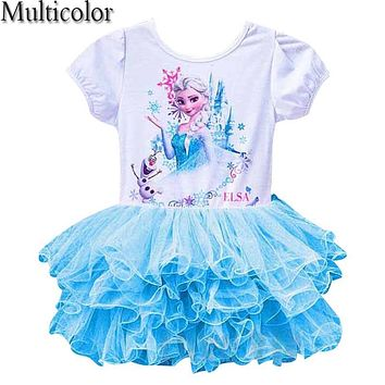 Elsa Girls Cloth Dress Anna Girl's Dresses Princess Dress Party Dress For Baby Kids Queen Infant Costume Party Vestidos Clothes