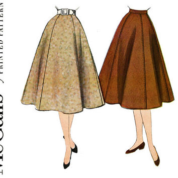 1950s Skirt Pattern Waist 24 McCalls 9900 Flared Gored Day Evening Skirt Easy to Sew 50s Retro Wardrobe Basics Womens Vintage Sewing Pattern