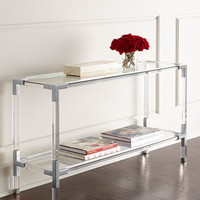 Jonathan Adler Jacques Lucite & Nickel Console
