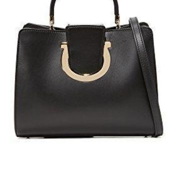Salvatore Ferragamo Women's Thea Top Handle Satchel Nero One Size