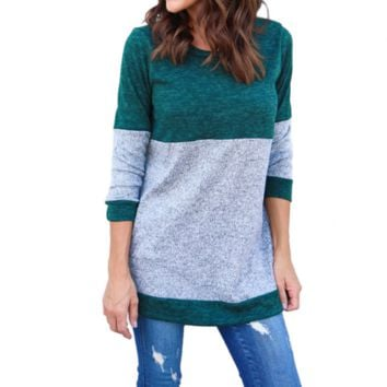 Women'S Solid Color Long-Sleeved Sweater