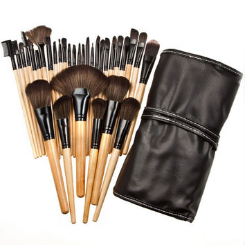 32pcs Makeup Brushes Professional Eye Lip Powder Face Cosmetic Brush Set Wood Cosmetic Makeup Brush Set & Make Up Case
