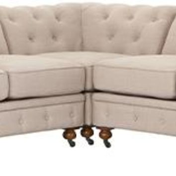 Gordon Sectional Sofa - Chesterfield Sectional - Tufted Sectional - Tufted Sectional Sofa - Living Room Sectionals | HomeDecorators.com