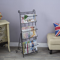 Metal magazine rack books floor steel shelf stereo creative promotional display shelf
