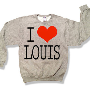 One Direction I Love Louis Tomlinson Sweatshirt Oxford Gray x Crewneck x Jumper x Sweater - All Sizes Available