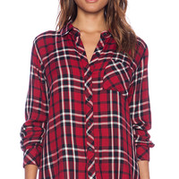 Rails Hunter Button Down in Red