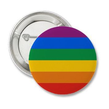 Gay Pride Flag / Rainbow Flag Button from Zazzle.com
