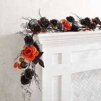 Black, Silver & Orange Halloween Garland