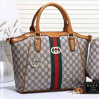 Perfect  Gucci Women Leather Shoulder Bag Satchel Tote Handbag