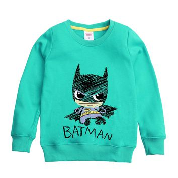 BATMAN hero pattern printed 2017 new fashion winter autumn sweatshirt design for boy hooded children's clothing for 4-12t kids