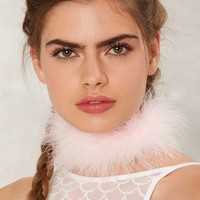 Frasier Sterling The Foxy Feather Choker - Pink