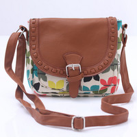 Vintage Canvas Butterfly Crossbody Shoulder Bag