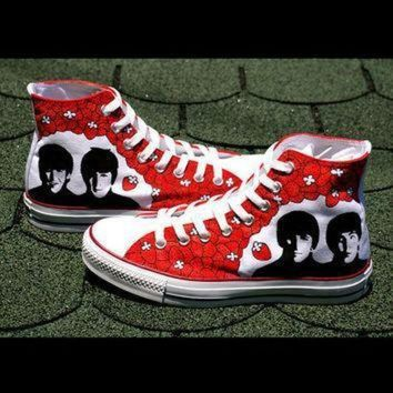 ICIKGQ8 sale beatles converse shoes hand painted by baconfactory on etsy