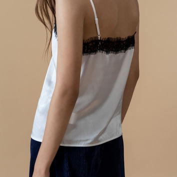 Lace Silk Slip Top