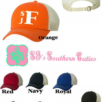 Preppy Monogram Soft Mesh Trucker Cap
