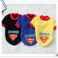 Pet Dog Clothes Puppy Hoodies Vest Polo Shirts Cotton Spring Cat Outfit Superman Cheap Pet Costumes Abrigo Ropas para Cachorro 3