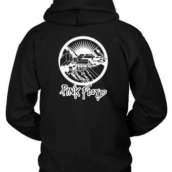 VONEED6 Pink Floyd Black And White Vektorize Hoodie Two Sided