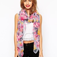 New Look | New Look Neon Floral Scarf at ASOS