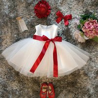 Newborn Baby Girl 1st Birthday Outfits Kids Frock Designs Baby Christmas Tutu Dress For Girl Junior Child Bridesmaid Ball Gown