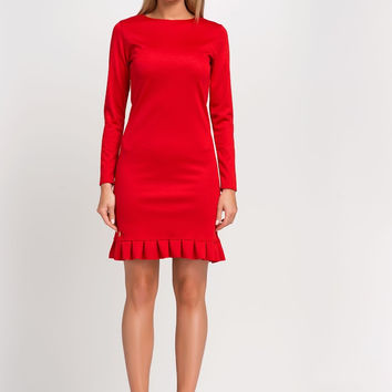 Peper Doll Red Dress With Mini Frill
