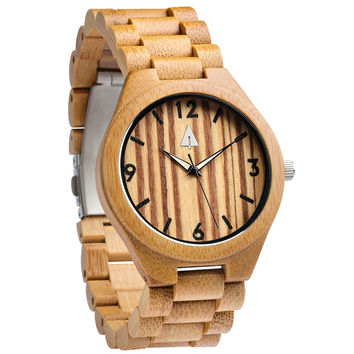 All Wood Watch // All Bamboo Zebrawood