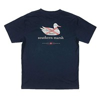 Authentic Alabama Heritage Tee in Navy by Southern Marsh