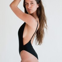American Apparel Nylon Tricot High-Cut One-Piece $31.50