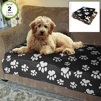 Evelots Pet Sofa Blanket-Cat & Dog-Fleece-Paw Pattern-Soft-36x46in-Asst Colors