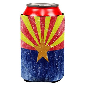 Arizona Vintage Distressed State Flag All Over Can Cooler
