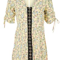 Floral Hook and Eye Mini Dress | Topshop