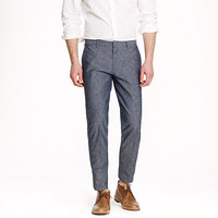 J.Crew Mens Ludlow Suit Pant In Japanese Chambray