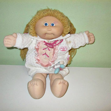 ORIGINAL Cabbage Patch Kid 1978/1982 Xavier Roberts Doll, Blond Hair, Home Decor, Baby Doll, Kids Toys, Vintage