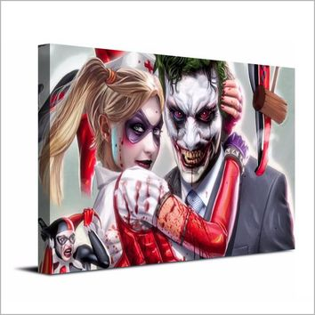 1 Piece Canvas Art Canvas Panel Print Joker Harley Quinn Comics Wall Poster Picture