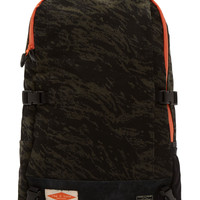 Rag And Bone Olive Camo And Black Suede Porter Edition Backpack
