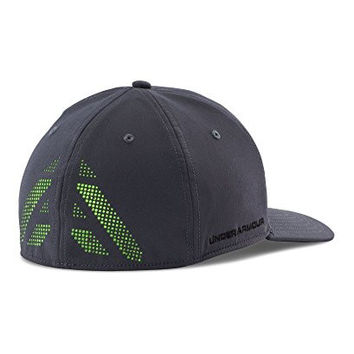 Under Armour Men's Undeniable Cap, Stealth Gray/Black/Hyper Green, Large/X-Large