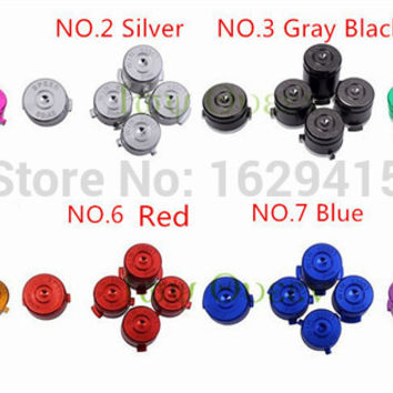 IVY QUEEN Custom 8 Colors High Quality For Microsoft Xbox one Controller Metal Bullet Luger ABXY Speer Guide Buttons 9 mm win