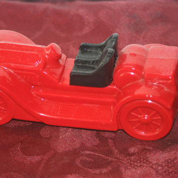 Vintage Red Avon Car Bottle, Vintage Decanter Bottle