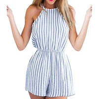 Women Clubwear Halter Backless Playsuit Bodycon Party Playsuits Romper S M L XL
