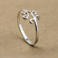 COOL Simple Silver Cloud Ring