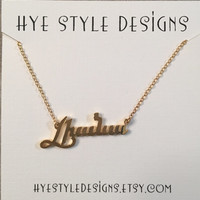 Custom Made Armenian Name Necklace script letters