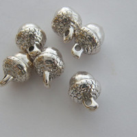 BULK 30 Acorn charms ( double sided and 3D ) 15.5 x 10.5mm tibetan silver