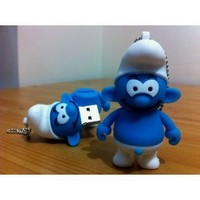 8GB Mini Smurf USB Flash Drive from THE SMURFS film Funny Memory Stick