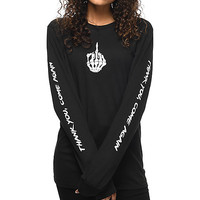 Know Bad Daze Come Again Black Long Sleeve T-Shirt
