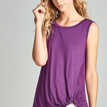 Violet Twist Bottom Tunic Tank