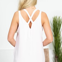 Soft Spring Strappy Top | Pale Pink