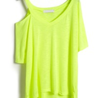 Cutout One-Shoulder High Low Tee - OASAP.com