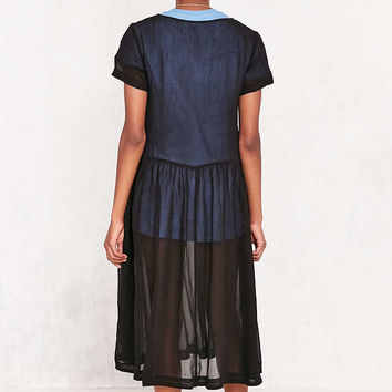 Kimchi Blue Sparrow Sheer Drop-Waist Midi Dress - Urban Outfitters