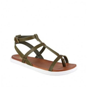 MIA Shoes Eryn | Olive Thong Sandals