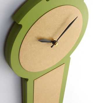 modern colonial wall clock in apple green by uncommon on Etsy